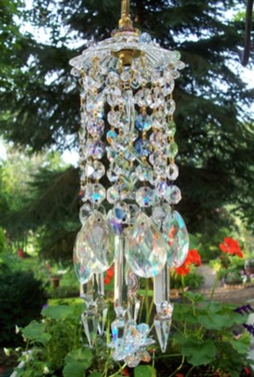 Beautiful beaded wind chime to add sparkle to the garden 15