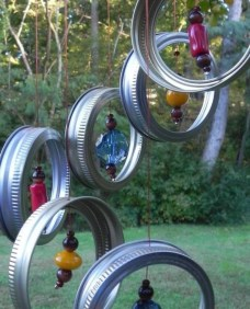 Beautiful beaded wind chime to add sparkle to the garden 18