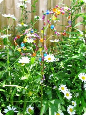 Beautiful beaded wind chime to add sparkle to the garden 26