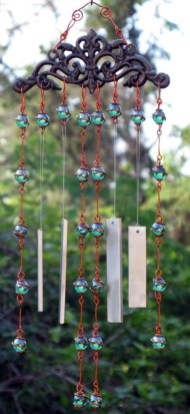 Beautiful beaded wind chime to add sparkle to the garden 29
