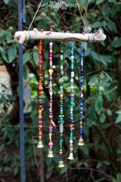 Beautiful beaded wind chime to add sparkle to the garden 33