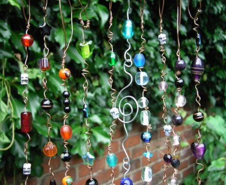 Beautiful beaded wind chime to add sparkle to the garden 34
