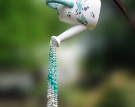 Beautiful beaded wind chime to add sparkle to the garden 38