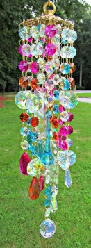 Beautiful beaded wind chime to add sparkle to the garden 41