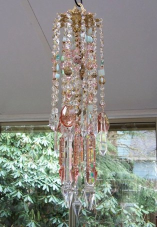 Beautiful beaded wind chime to add sparkle to the garden 42