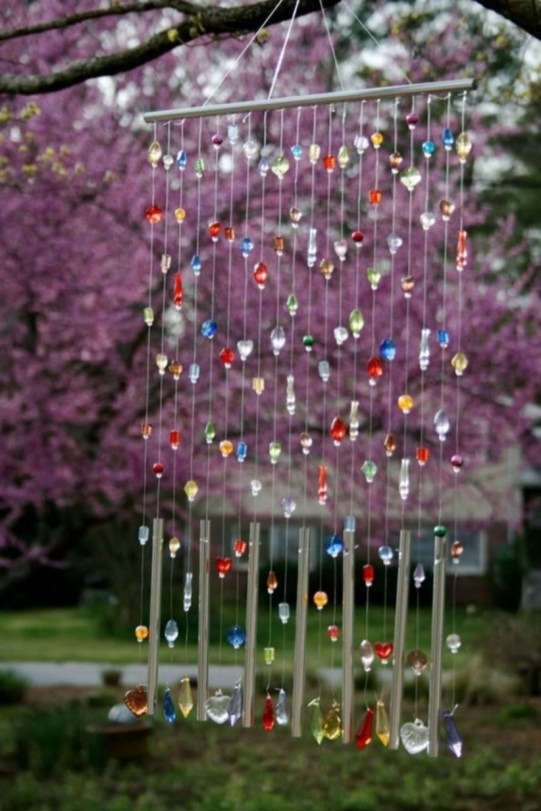 Beautiful beaded wind chime to add sparkle to the garden 47
