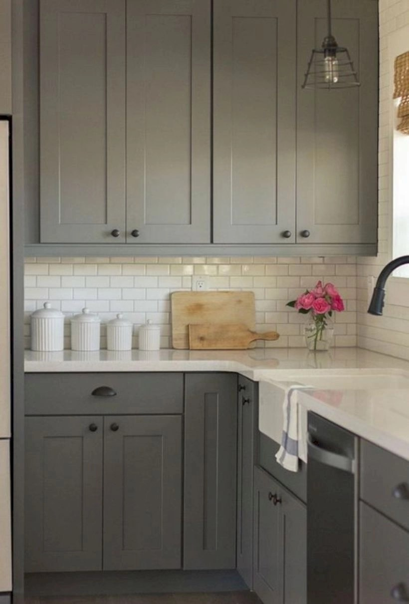 15 Grey Kitchen Cabinet Makeover Ideas Godiygo Com
