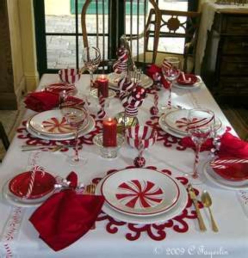 Christmas tablescape very whimsical and simple