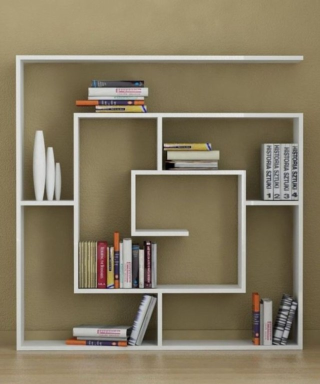 Diy minimalist shelves for your partement in modern style