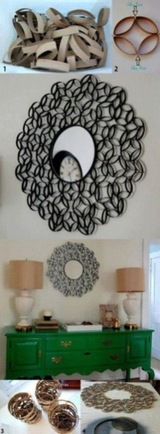 Diy paper roll wall art to beautify your home 04