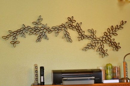 Diy paper roll wall art to beautify your home 05