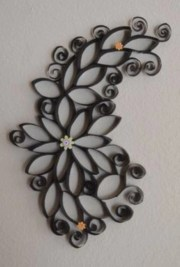 Diy paper roll wall art to beautify your home 12
