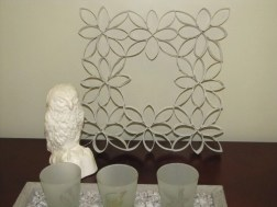 Diy paper roll wall art to beautify your home 34