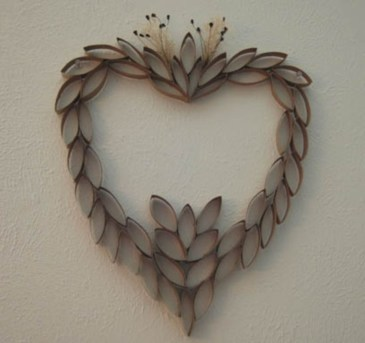 Diy paper roll wall art to beautify your home 35