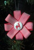 Diy ribbon ornament for christmas 12