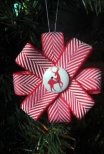 Diy ribbon ornament for christmas 12