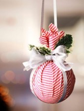 Diy ribbon ornament for christmas 23