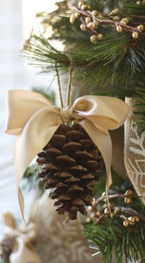 Diy ribbon ornament for christmas 24