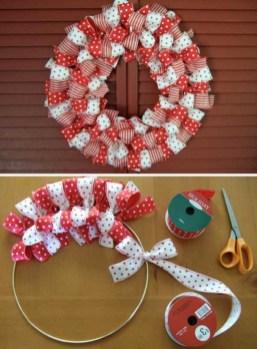 Diy ribbon ornament for christmas 35