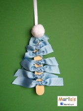 Diy ribbon ornament for christmas 37