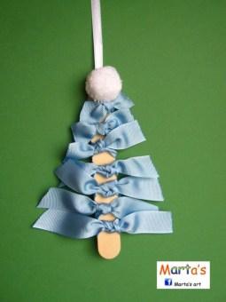 Diy ribbon ornament for christmas 37