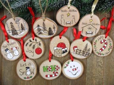 Diy ribbon ornament for christmas 44