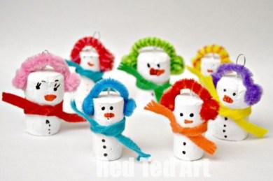 Diy snowman ornament for christmas 16