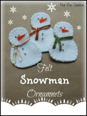 Diy snowman ornament for christmas 24