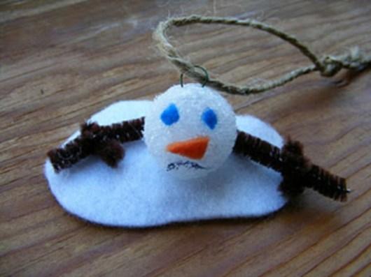 Diy snowman ornament for christmas 25