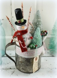 Diy snowman ornament for christmas 28