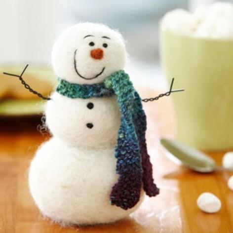 Diy snowman ornament for christmas 34