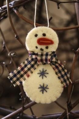Diy snowman ornament for christmas 44