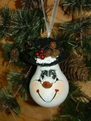 Diy snowman ornament for christmas 45