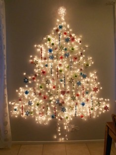 Diy wall christmas tree to save your space 01