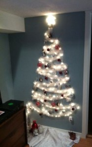 Diy wall christmas tree to save your space 03