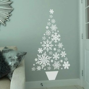 Diy wall christmas tree to save your space 04