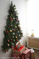Diy wall christmas tree to save your space 14
