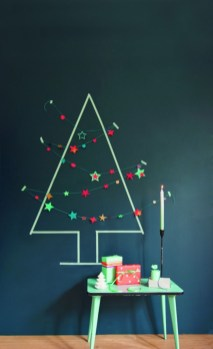 Diy wall christmas tree to save your space 22