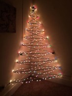 Diy wall christmas tree to save your space 35