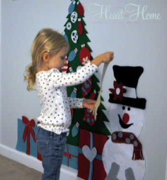 Diy wall christmas tree to save your space 36