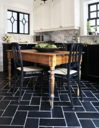 Elegant black herringbone tiles for your space 02