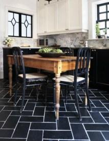 Elegant black herringbone tiles for your space 02