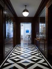 Elegant black herringbone tiles for your space 23