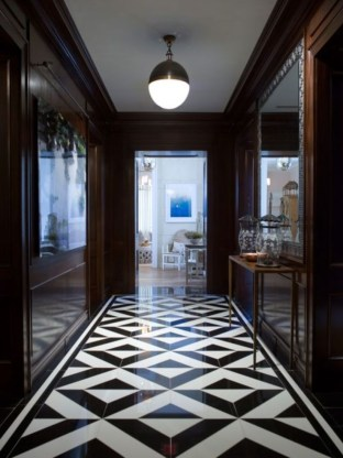 Elegant black herringbone tiles for your space 23