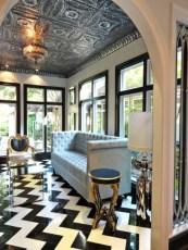 Elegant black herringbone tiles for your space 26