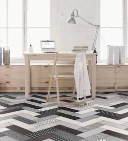 Elegant black herringbone tiles for your space 29
