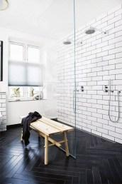 Elegant black herringbone tiles for your space 32
