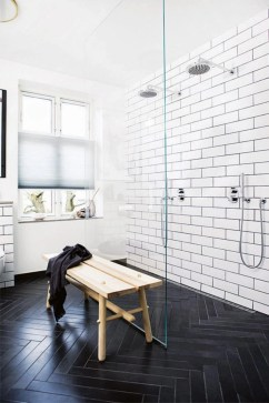 Elegant black herringbone tiles for your space 32