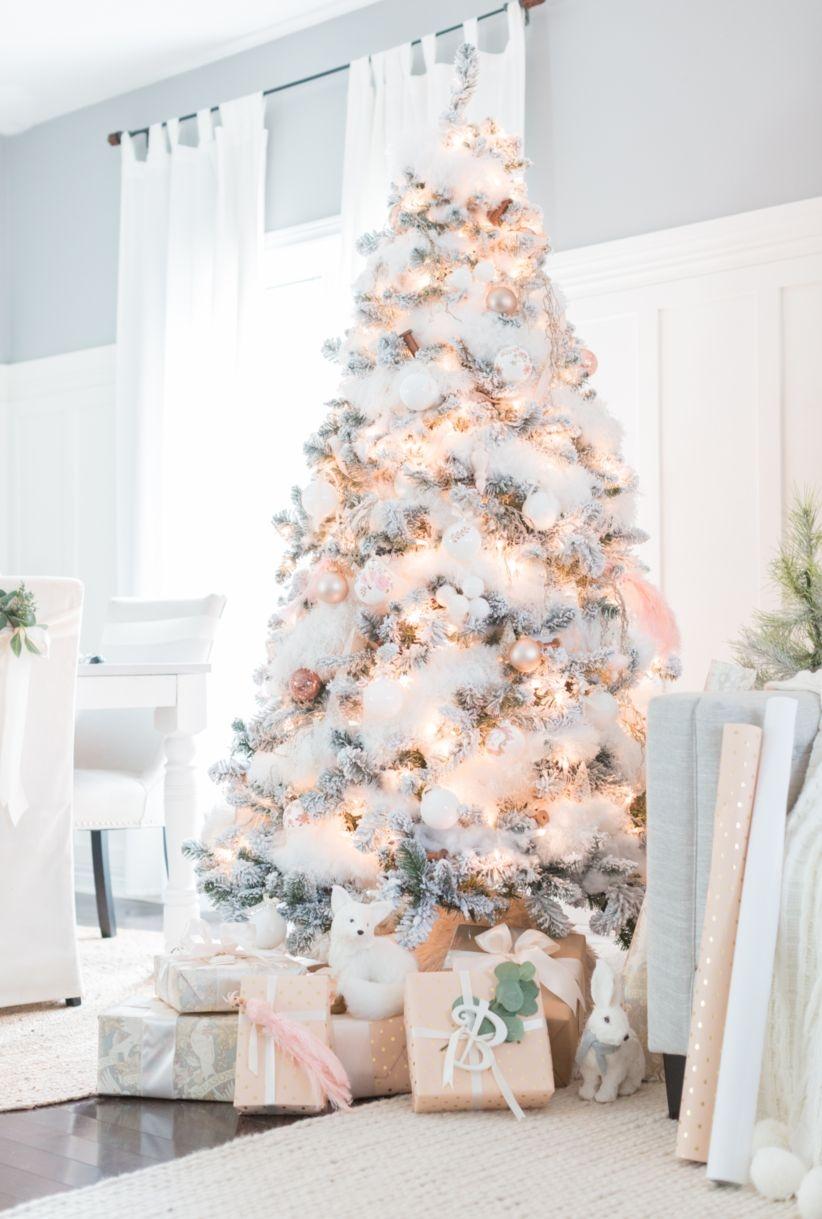 42 elegant decorating ideas for white christmas godiygo com - Ideas decoracion navidad ...