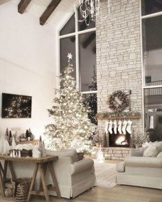 Elegant decorating ideas for white christmas 07